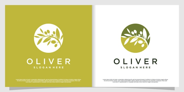 Olive logo mit modernem kreativem element premium-vektor teil 4