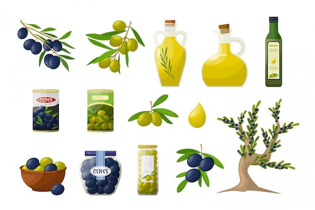 Oliven und produkte