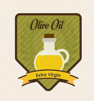 Olivendesign über beige hintergrundvektorillustration