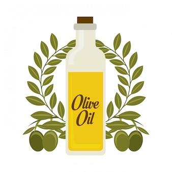 Olivendesign über weißer hintergrundvektorillustration