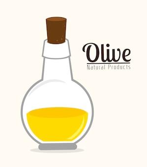 Olivenöl design, vektor-illustration.