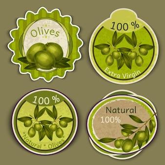Olivenöl etiketten