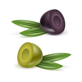 Olivenöl glas krug krug glas flasche oliven zweige blätter