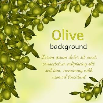 Olivenöl hintergrund