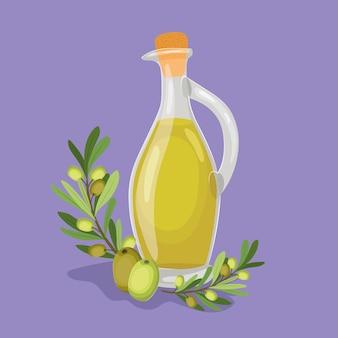 Olivenöl-ikone