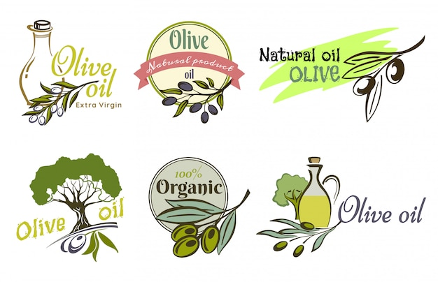 Olivenöl-logo-etiketten