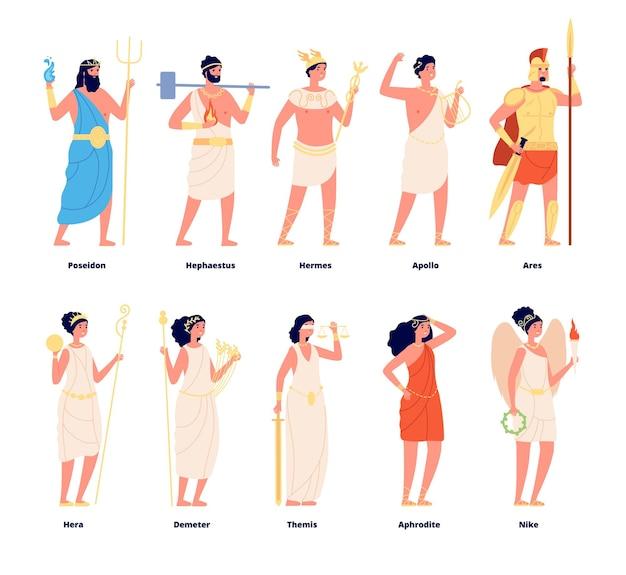 Olympische götter setzen