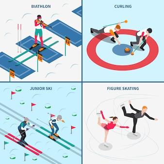 Olympische winterspiele-konzept