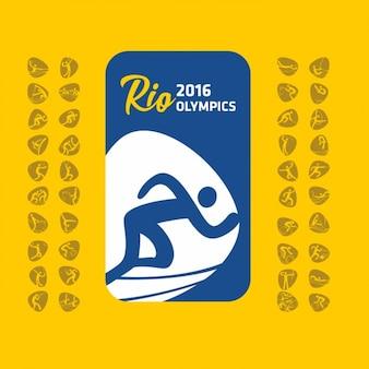 Olympischen spiele ikonen-sammlung