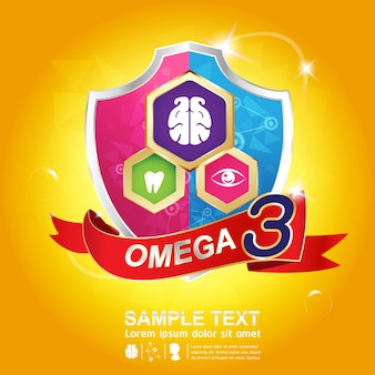 Omega 3 nutrition logo design
