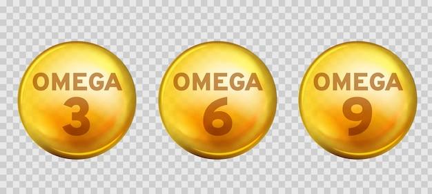 Omega-säuren. gesunde nahrungsergänzungsmittel fettsäure epa dha 3, 6 und 9 bio-vitamin nährstoff