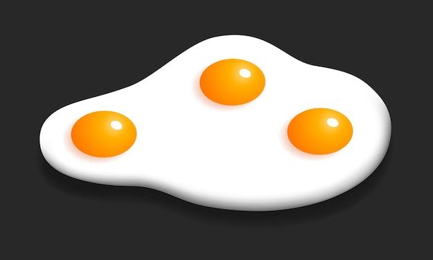 Omelett-vektor-illustration frühstück isometrisches design rührei grafik essen symbol