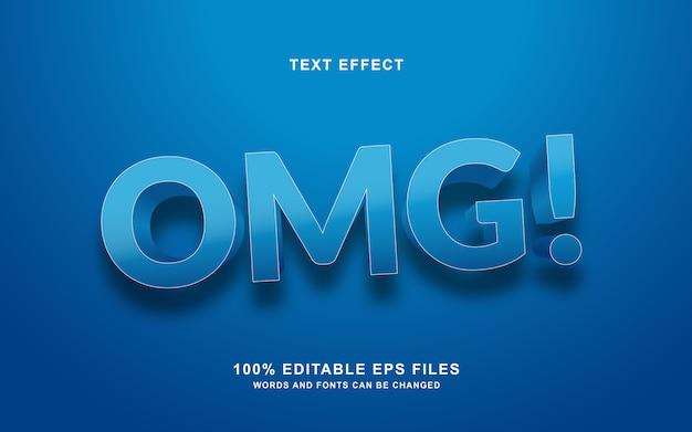 Omg text style effekt