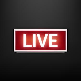 On air live glühender fernseher