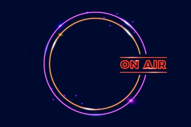 On air neon frame vorlage