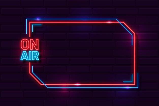 On air neon frame vorlage
