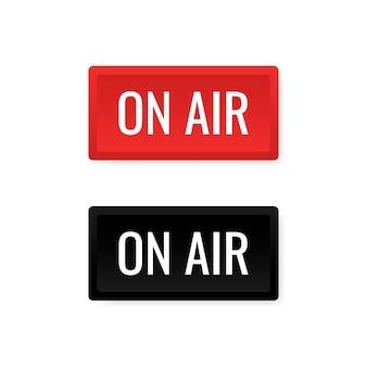 On air studio lichtschild.