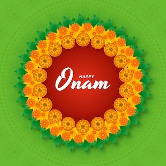 Onam-abbildung mit farbverlauf