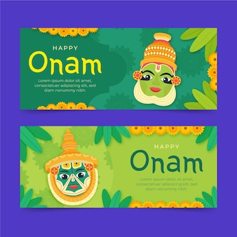Onam-banner-set