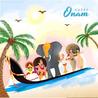 Onam festival feier hintergrund.