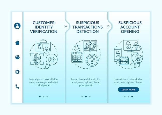 Onboarding app mobile vorlage zur überprüfung der kundenidentität