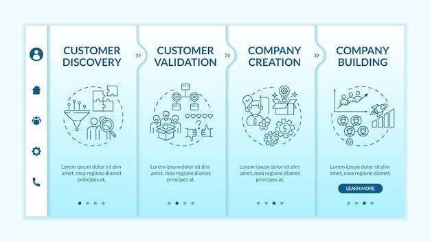 Onboarding-vorlage für das kundenentwicklungs-framework