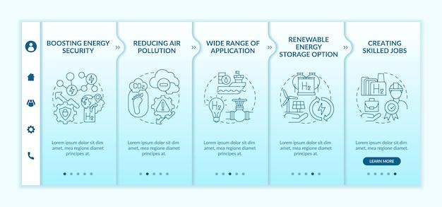 Onboarding-vorlage für die wasserstofftechnologie-revolution