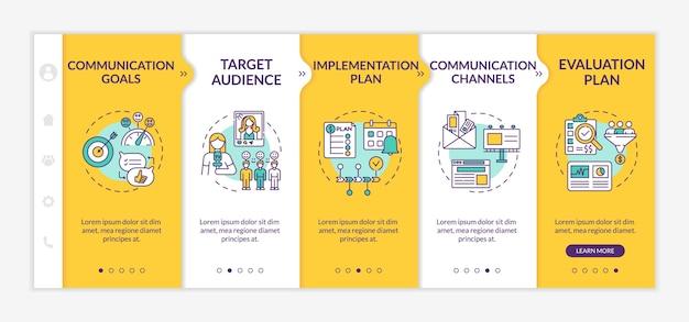 Onboarding-vorlage für kommunikationsstrategiekomponenten
