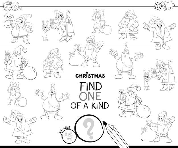 One of a kind lernspiel mit santa claus