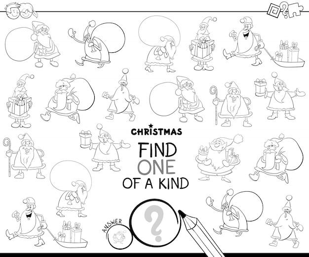 One of a kind lernspiel mit santa color book