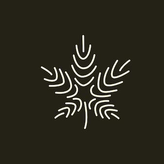 Oneline-marihuana, cannabis-logo-idee