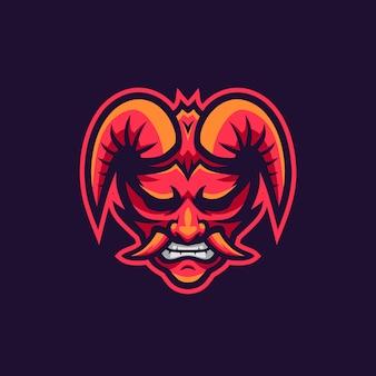 Oni dämonen maskottchen logo