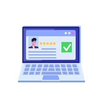 Online-abstimmung, e-voting, wahl internet-systemvorlage.