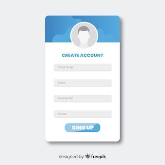 Online-anmeldeformular