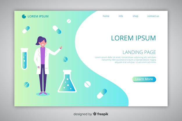 Online-apotheke landingpage-vorlage
