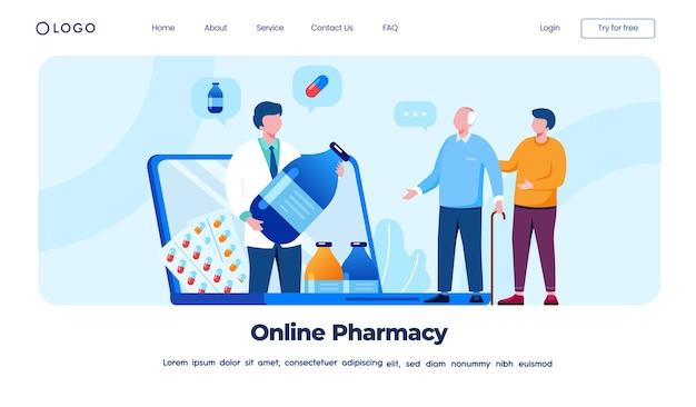 Online-apotheken-landingpage-konzept