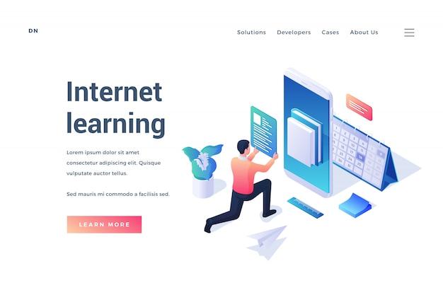 Online-app zur förderung des internet-lernens