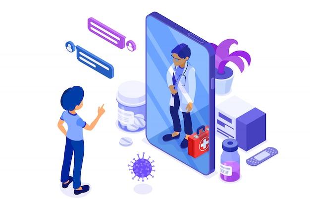 Online-arzt und medizinische diagnostik