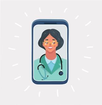 Online-arztkonsultation mit dem gesundheitswesen