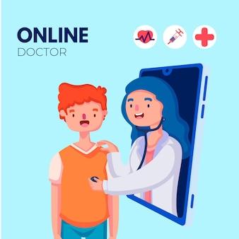 Online-arztkonzept