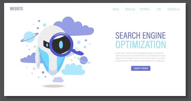 Online assistent bot landing page vorlage. design des technischen supports oder virtuelle hilfe-website.