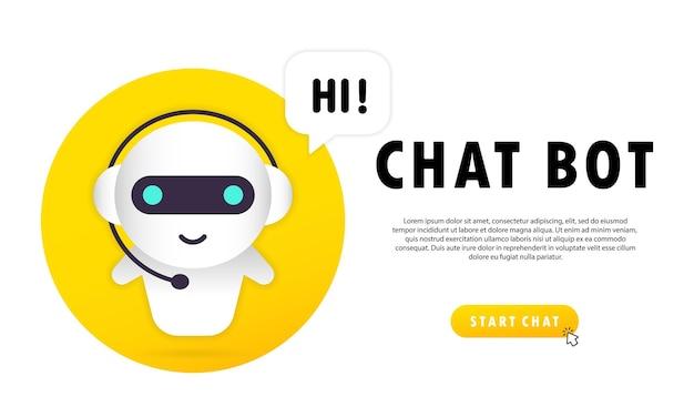 Online-assistent bot landing page vorlage