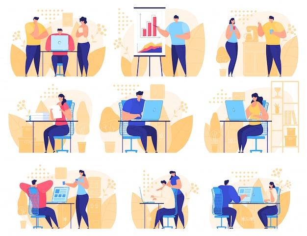 Online-assistenten bei der arbeit