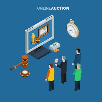 Online-auktion isometrisch