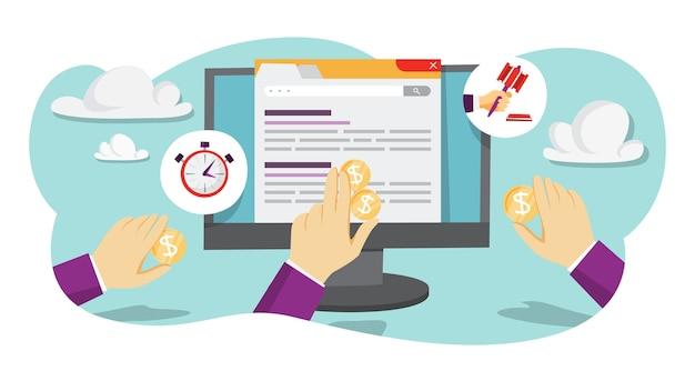 Online-auktionsillustration