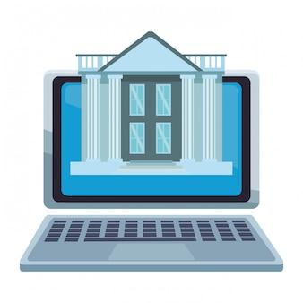 Online bank vom laptop