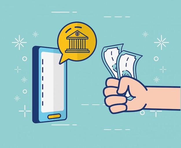 Online-banking auf dem smartphone