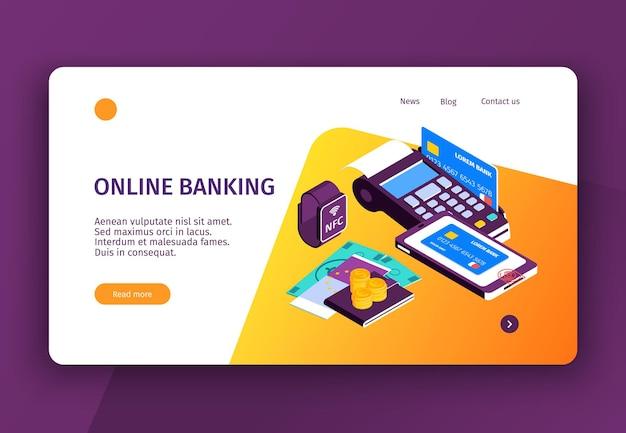 Online-banking-landingpage-vorlage