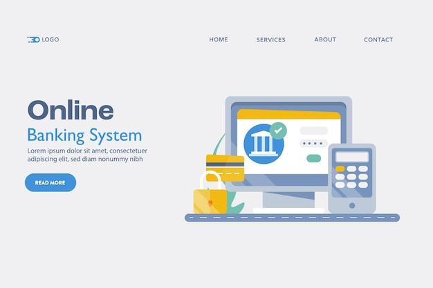 Online-banking-zahlungskonzept