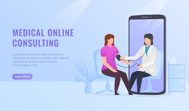 Online-banner für medizinische beratung